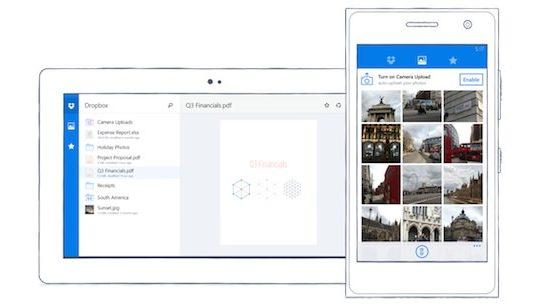 Dropbox Application Windows Phone