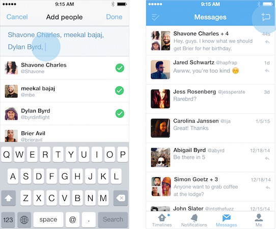 Twitter Messages Prives Groupe