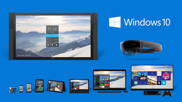 Windows 10 PC Smartphone Tablette Surface Hub HoloLens