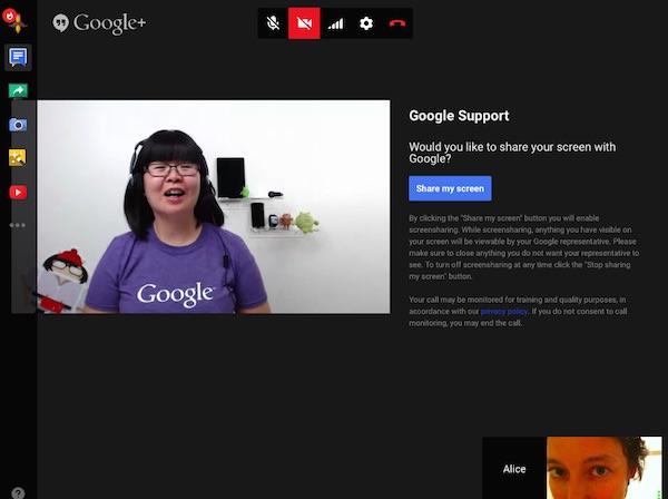 Google Service Client Appel Video