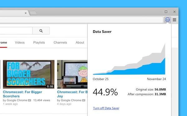 Chrome Extension Economiseur de données
