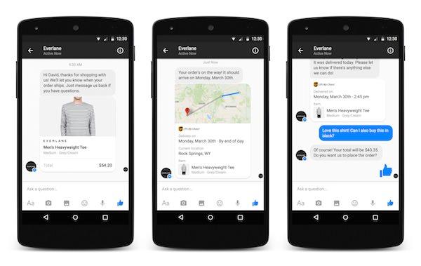 Facebook Messenger Commercants