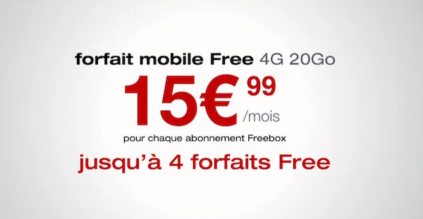 Free Mobile 4 Forfaits Prix Reduits