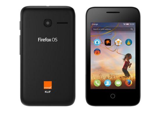 Orange Klif Smartphone Firefox OS
