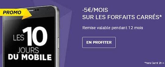 Promo Forfait SFR 5 Euros Mois