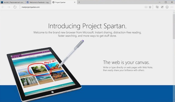 Spartan Windows 10 Preview