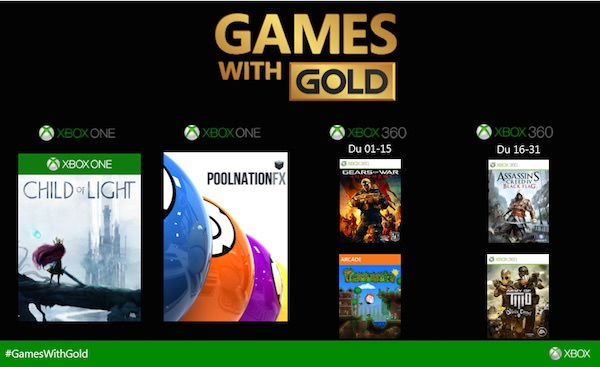 Xbox Games Gold Avril 2015