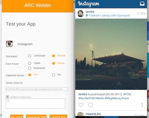 ARC Welder Application Android PC Mac