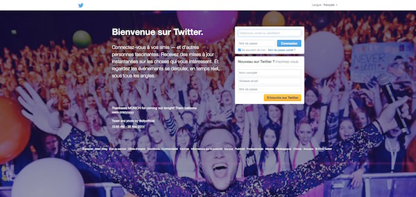 Twitter Ancienne Page Accueil