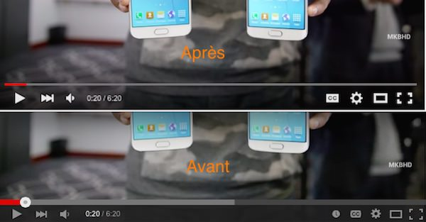 YouTube Avant Apres Lecteur Transparent