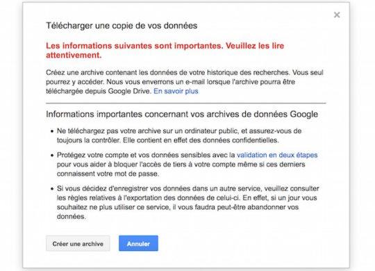 google telechargement historique