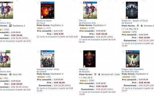 promo jeux amazon