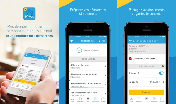 Digiposte Pass Application iPhone