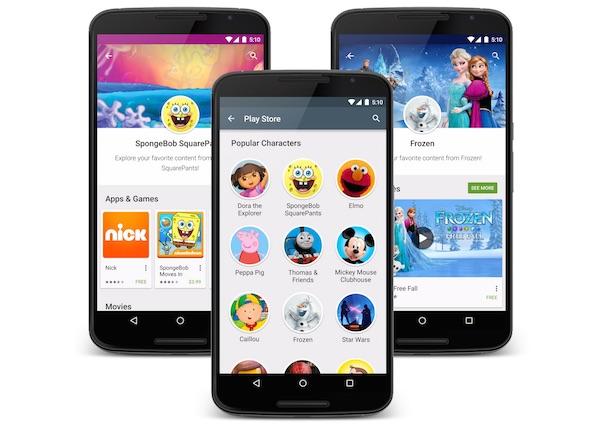 Google Play Enfants Famille