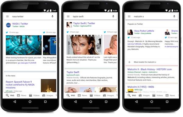 Google Tweets Resultats Recherche