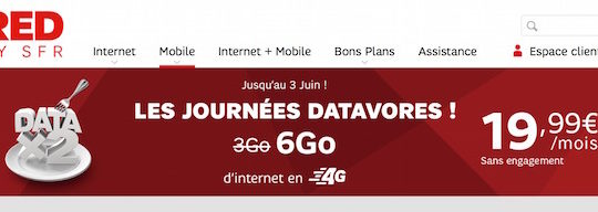 sfr red offre promo data