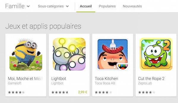 Google Play Famille
