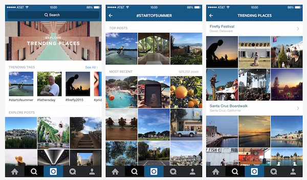 Instagram Explorer Tendance