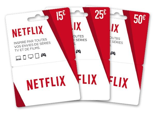 Netflix Cartes Cadeaux