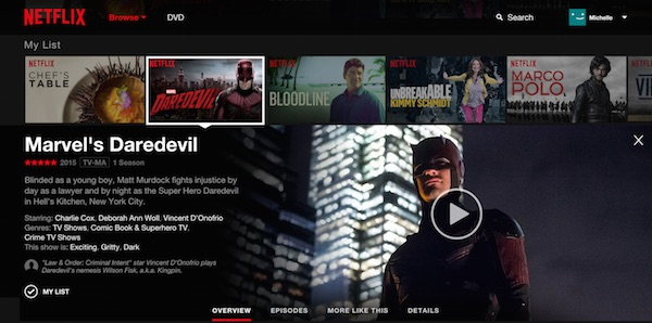 Netflix Nouvelle Interface Juin 2015
