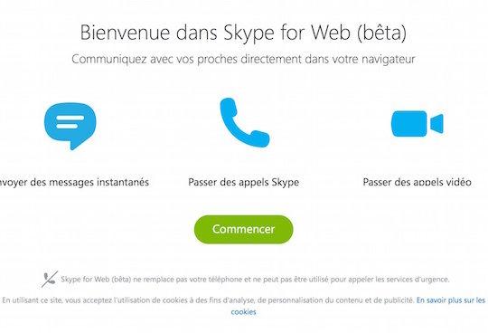 Skype Web Beta Francais Premier Lancement