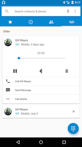 Android M Messagerie Vocale Visuelle