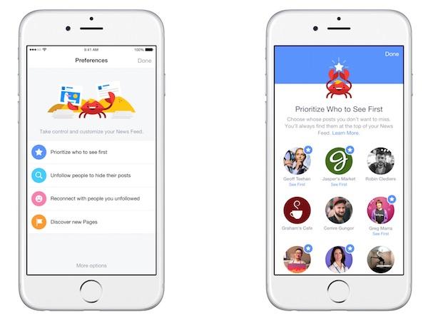 Facebook Preferences Fil Actualite