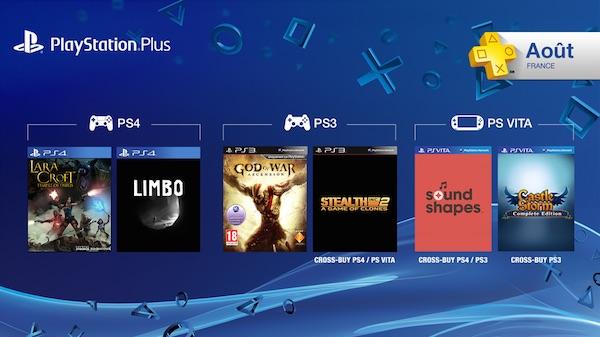 PlayStation Plus Jeux Offerts Aout 2015