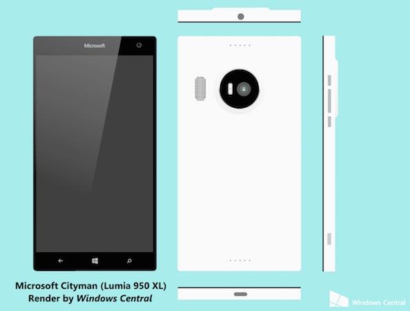 Rendu Lumia 950 XL