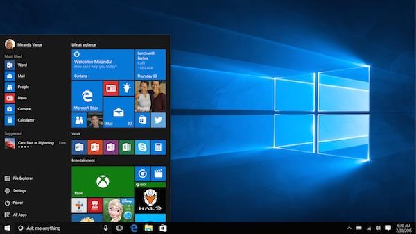 Windows 10 Version Finale Bureau