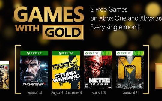 Xbox Live Gold Jeux Offerts Aout 2015