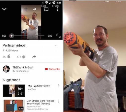 YouTube Video Plein Ecran Vertical