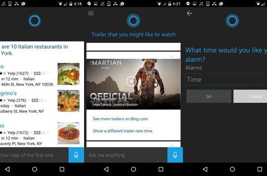 Cortana Android Beta Publique