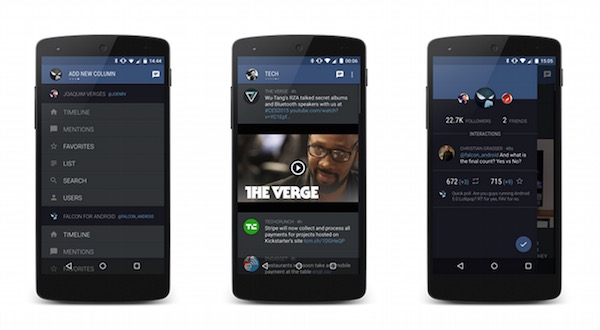 Falcon Pro Application Android