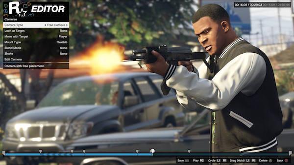 GTA 5 Rockstar Editor PlayStation 4
