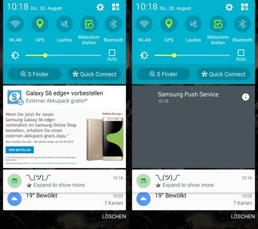 Samsung Notification Publicitaire