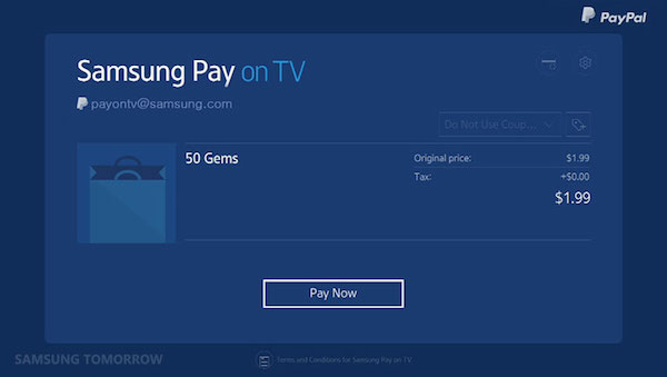 Samsung Pay Television 2