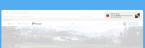 Twitter Notification Web Message Prive