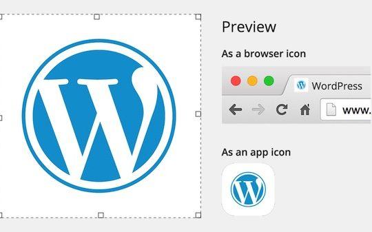 WordPress 4.3 Personnaliser Icone Site