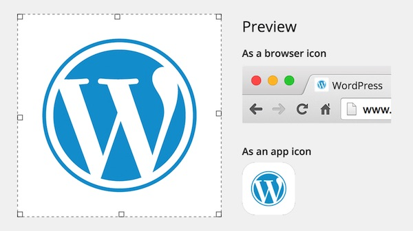WordPress 4.3 Personnaliser Icone Site