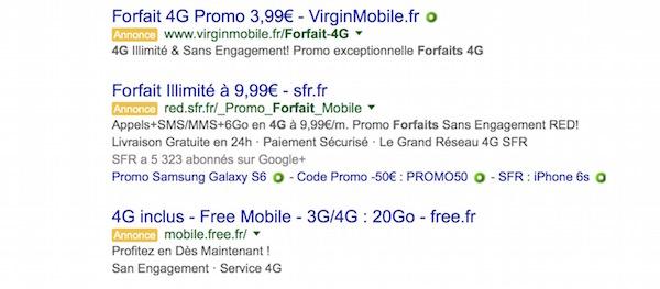 Exemple Publicite Google