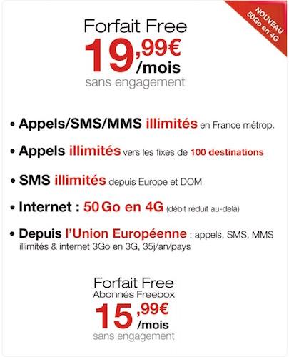 Free Mobile 50 Go Data