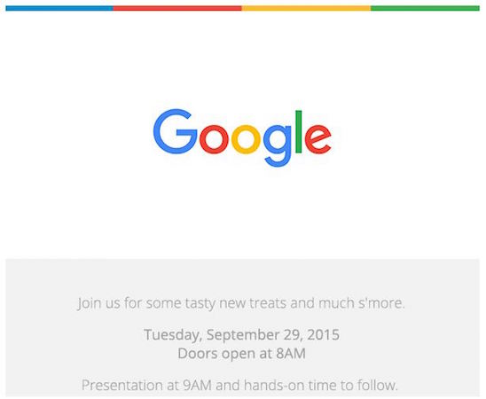 Google Conference Invitation 29 Septembre 2015