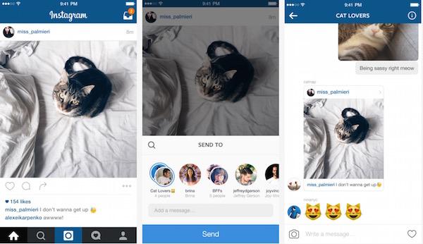 Instagram Direct Nouveautes