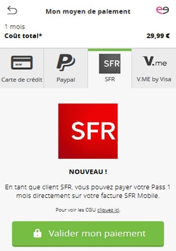 SFR Paiement Facture Meetic