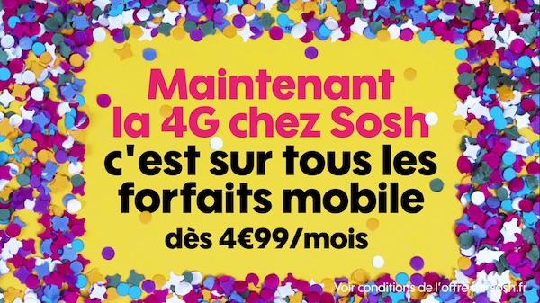 Sosh 4G Petits Forfaits