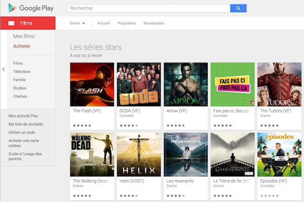 Google Play Series TV France