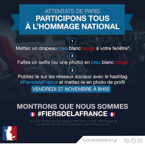 Hommage Attentats Paris Selfie