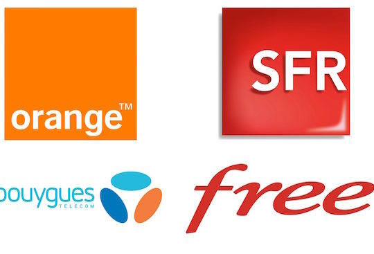 Orange SFR Bouygues Telecom Free Mobile Logos
