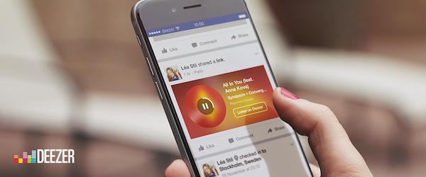 Deezer Facebook Extrait Musique